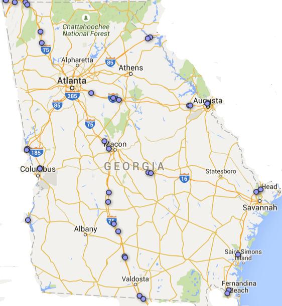 georgia rest area map